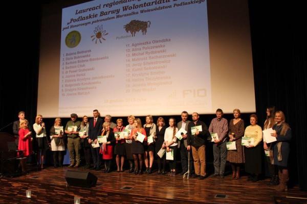 """Regionalny konkurs """"Podlaskie Barwy Wolontariatu 2018"""" pod Honorowym Patronatem Marszałka Województwa Podlaskiego"""